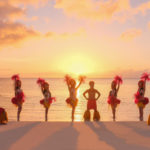 Dancers on the Micro Beach,.Saipan