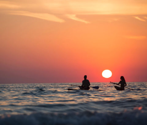 Standup Paddle Board during the sunset